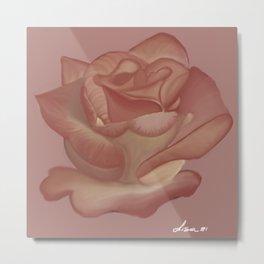 Elegante Pink Rose Metal Print