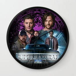 Supernatural Family dont end with Blood 2 Wall Clock