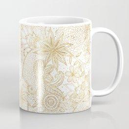 Elegant floral doodles henna image Coffee Mug