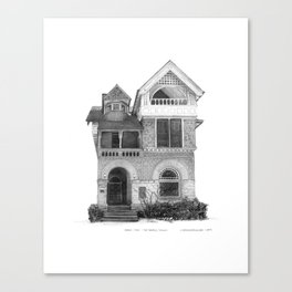 Annex Style, The Annex - Architectural Styles of Toronto Houses Canvas Print
