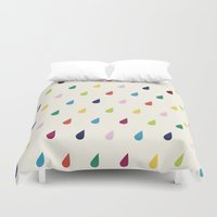 xbox Duvet Covers featuring Raindrops by Cute Cute Cute