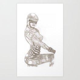 Cyber Chick Art Print