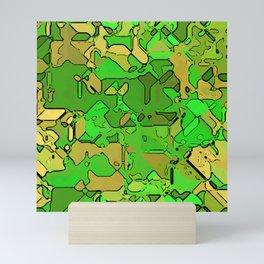 Abstract segmented 2 Mini Art Print