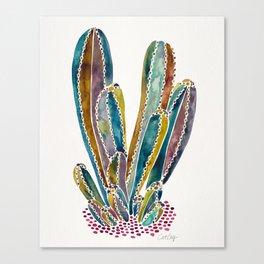 Cactus Custer – Vintage Palette Canvas Print