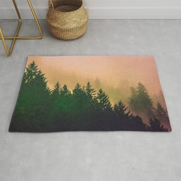 Cascadia Green Trees and Sunset Rug
