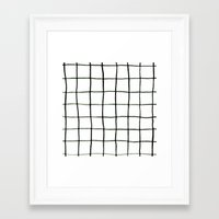 grid Framed Art Prints featuring Grid by Tiffany Wong Art