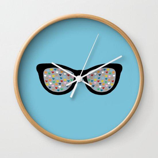 Heart Eyes Wall Clock