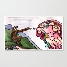 The Creation of Sloth Canvas Print