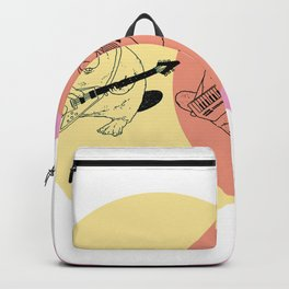 Keytar Platypus Yellow Orange Pink Backpack