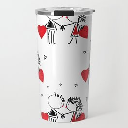 Give love . White . Travel Mug