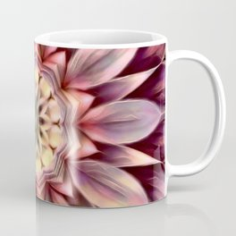 Pastel Dimensional Flower Mandala Coffee Mug