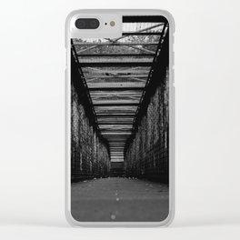 Graffiti City (Black and White) Clear iPhone Case