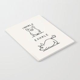 Inhale Exhale Pig Notebook