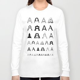 A is the first letter Long Sleeve T-shirt