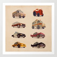 cars Art Prints featuring Cars by Giordano Poloni