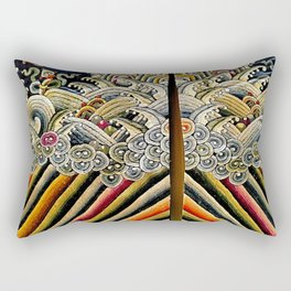 Embroidery-Waves Rectangular Pillow