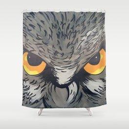 Eagle owl art owl bird drawing Shower Curtain