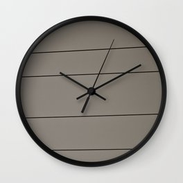 bird on cable Wall Clock