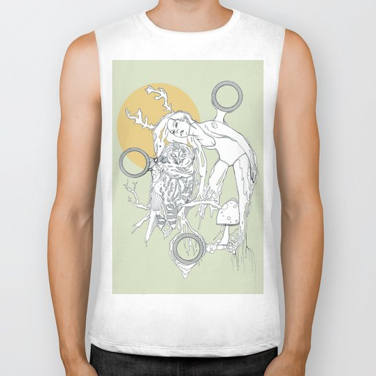 burnt wood Biker Tank