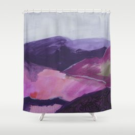 Roses Aren't Red 2 - Contemporary Abstract Landscape Shower Curtain