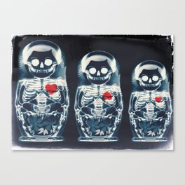 Nesting Doll X-Ray Canvas Print