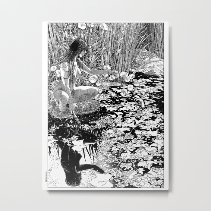 asc 534 - La Dame du lac (Viviane) Metal Print