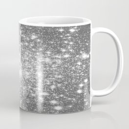 Silver Gray Galaxy Sparkle Stars Coffee Mug
