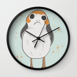 Space Porg Wall Clock