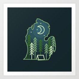 Michigan Camping - Summer Art Print