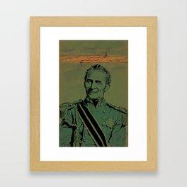 Totally Cushing it. Framed Art Print