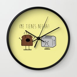 Toast and toaster with text (I'm sick of you) Wall Clock