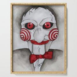 Jig Saw Horror Art Serving Tray