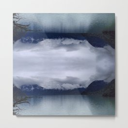 Lake in Tibet with Reflection Metal Print