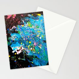 Liquid blue fire Stationery Cards