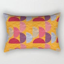 Pattern orange red rose 2 Rectangular Pillow
