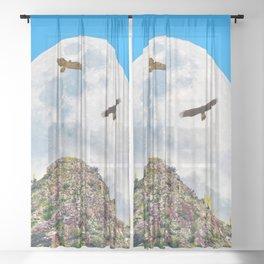 Spring Equinox Sheer Curtain