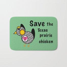 Save the Texas Prairie Chicken Bath Mat