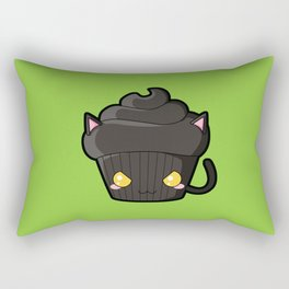 Spooky Cupcake - Black Cat Rectangular Pillow