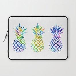 3 Rainbow Pineapples - Multicolored Laptop Sleeve