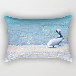 Strutting Pelican Rectangular Pillow