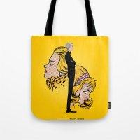 lichtenstein Tote Bags featuring Lichtenstein by Matias G. Martinez