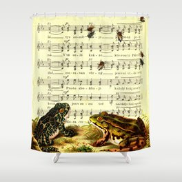 Frogs & Flys Shower Curtain