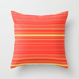 Yellow Orange Candy Lines Throw Pillow