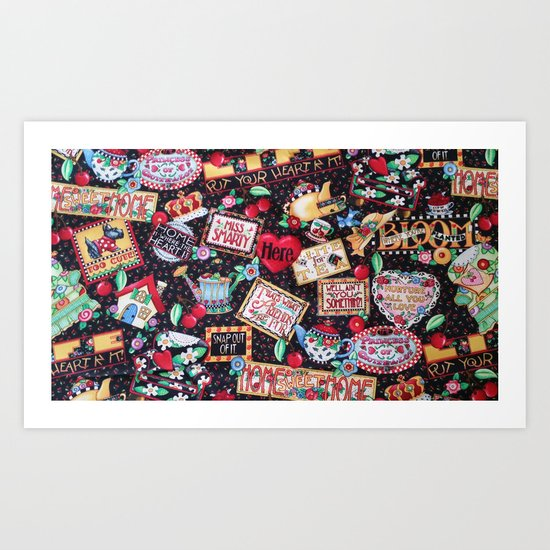 A PICTURE IS WORTH A 1000 WORDS Art Print
