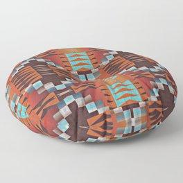 Native American Indian Tribal Mosaic Rustic Cabin Pattern Floor Pillow
