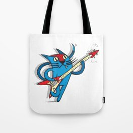 Cat's love to rock Tote Bag