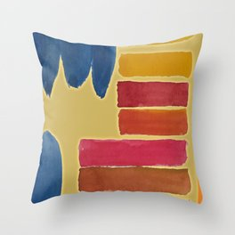 Slashes and Blues Throw Pillow