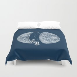 Chilling in Space Duvet Cover