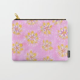 Tangerine Petal Rose Carry-All Pouch