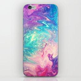 COLORFUL LIQUID MARBLE iPhone Skin